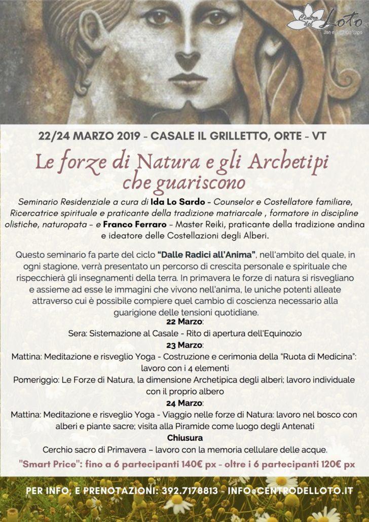 Le Forze di Natura e gli Archetipi che guariscono   -  Seminario Residenziale @ CASALE IL GRILLETTO | Orte | Lazio | Italia