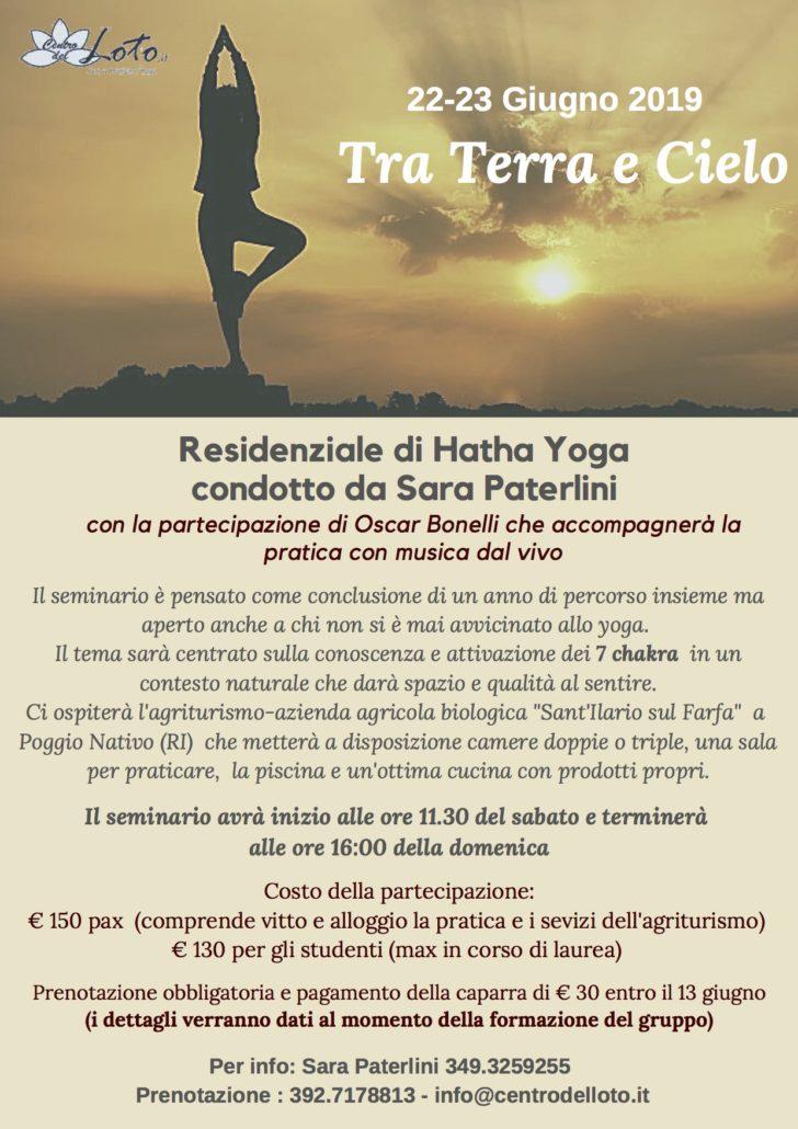 Tra Terra e Cielo - Residenziale di Hatha Yoga, 22-23 Giugno 2019 @ Sant'Ilario sul Farfa | Poggio Nativo | Lazio | Italia