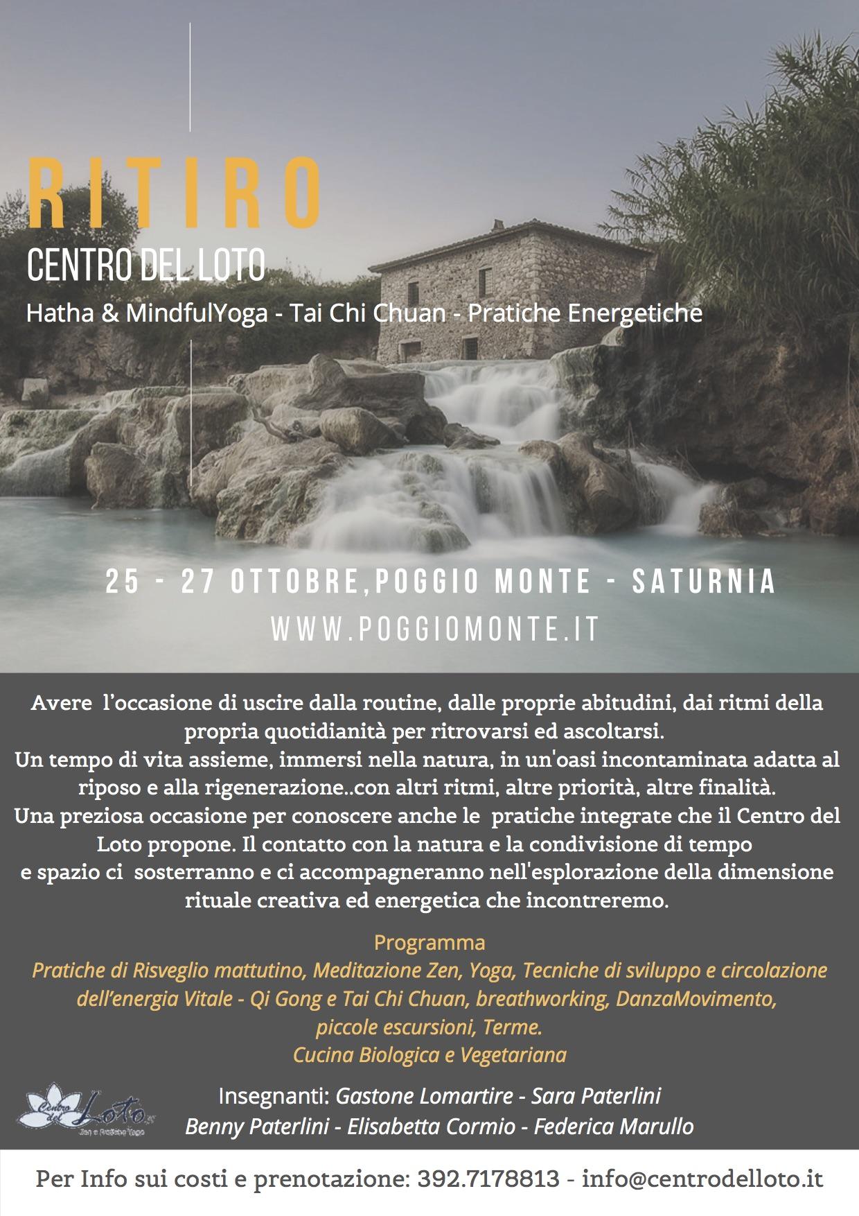 RITIRO CENTRO DEL LOTO @ Poggio Monte - Saturnia